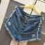 Jeansowe nowe spodenki wysoki stan M