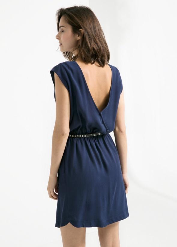 Sukienka Mango S XS Ozdobne plecy minimalistyczna