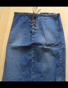 jeansowa wiązana spódnica 36...