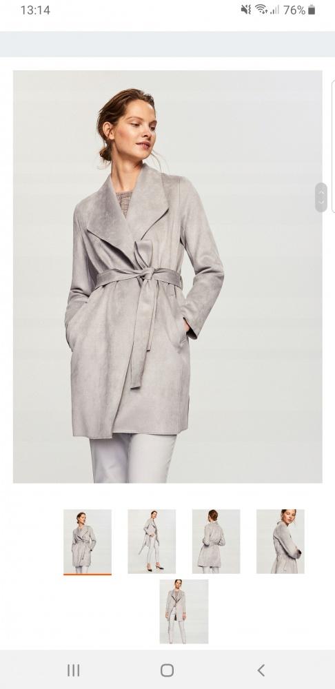 Ubrania Szary plaszcz Reserved