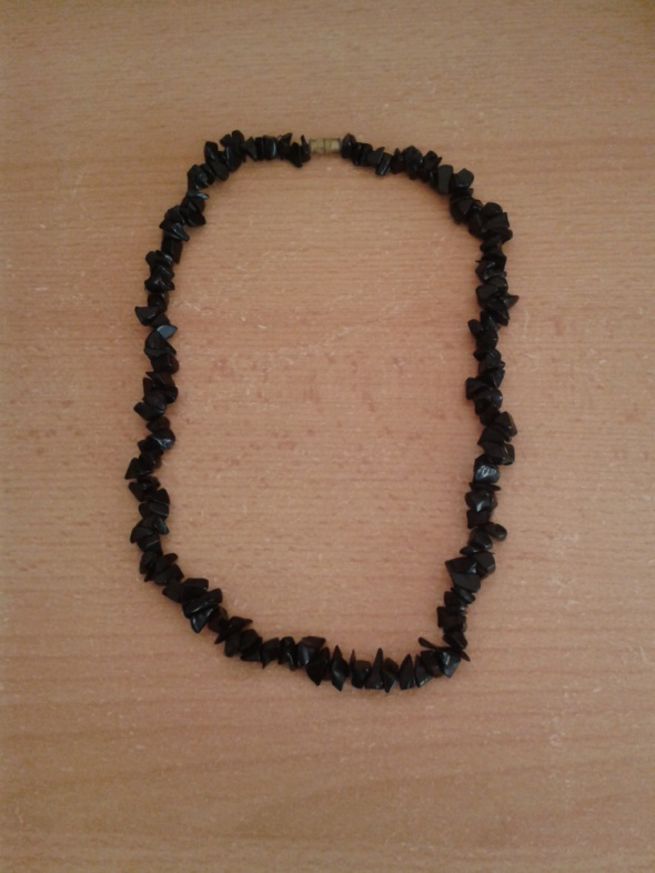 Naszyjnik czarny agat 47cm
