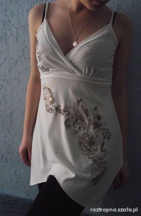 Biała elegancka tunika