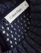 Sweter asymetryczny fioletowy Calvin Klein M...
