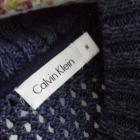 Sweter asymetryczny fioletowy Calvin Klein M