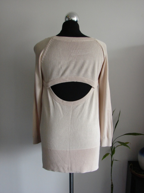 Swetry Kremowy nude sweter H&M