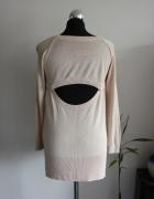 Kremowy nude sweter H&M