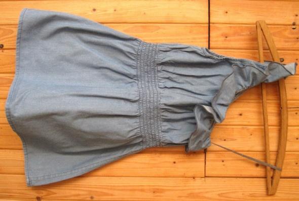 Tunika asymetryczna niebieska dżinsowa s 36