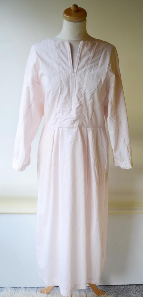 Sukienka H&M L 40 Pudrowy Róż Long Bawełna Różowa Dłuższa