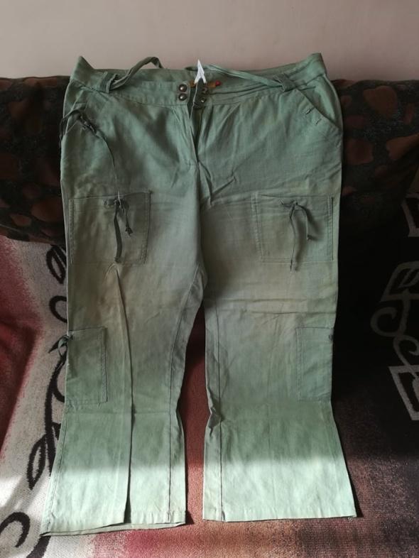 Lniane spodnie dla lekko puszystej 44