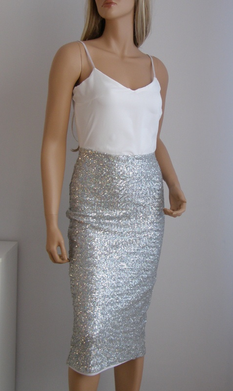 Sukienka Asos cekiny sylwester święta 38 M błyszcząca