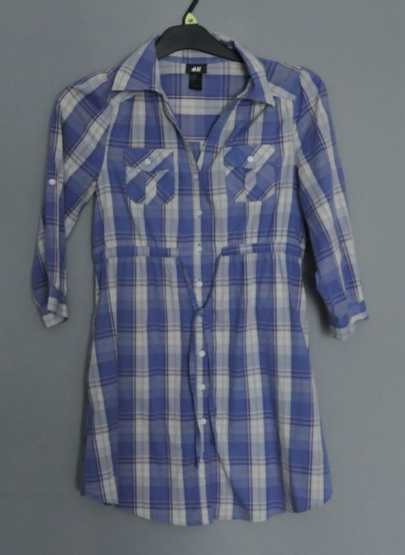 H&M koszula tunika sukienka kratka XS