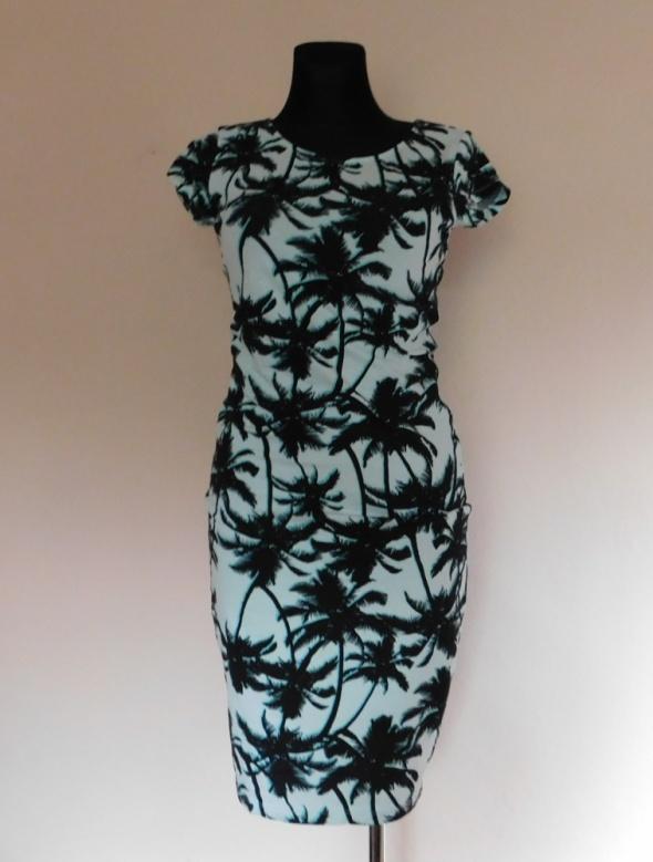 Suknie i sukienki KappAhl sukienka palmy turkus 36