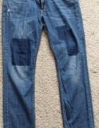 Spodnie jeansowe HM LOGG łaty rozm 33...