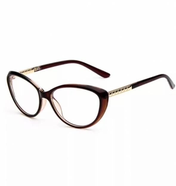 Nowe okulary zerówki oprawki retro vintage cat eye