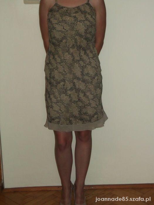 sukienka imitacja skóry węża...