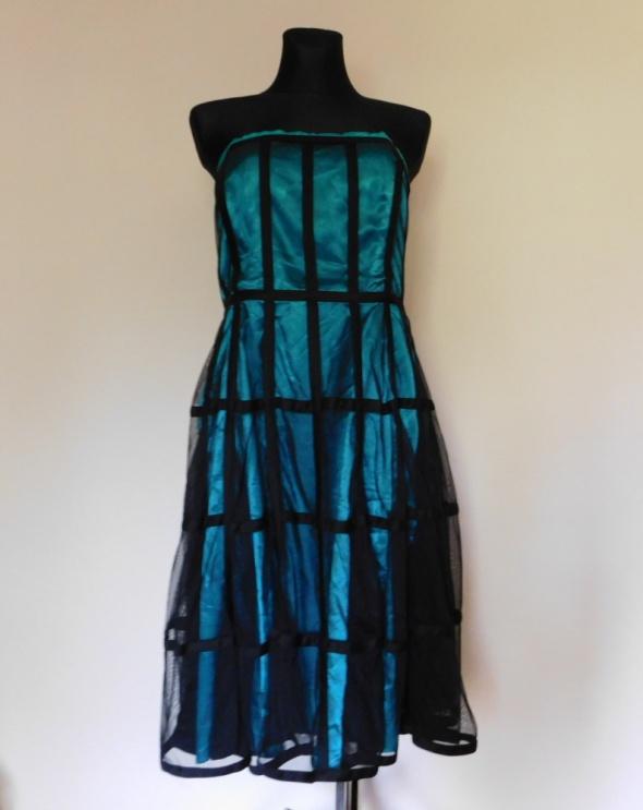 Teatro sukienka midi niebieska czarna XXXL