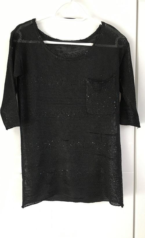Czarny Błyszczący Sweterek Reserved 36 S 34 XS...