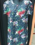 Sukienka kwiaty kropki George XL 42...
