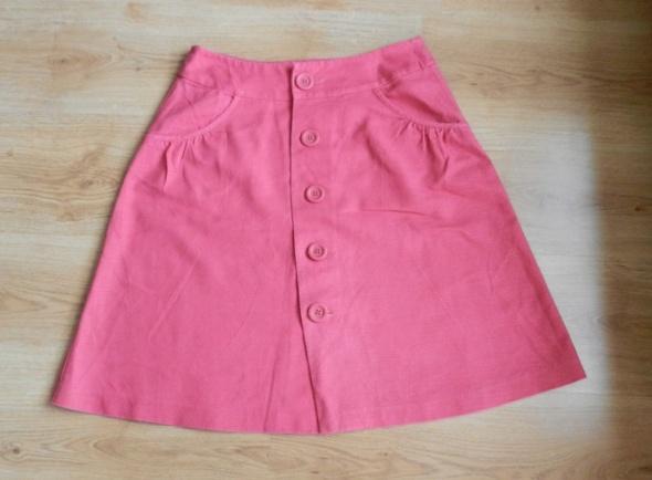 Spódnice Spódnica malinowa len lniana Papaya 40 L