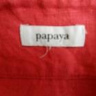 Spódnica malinowa len lniana Papaya 40 L