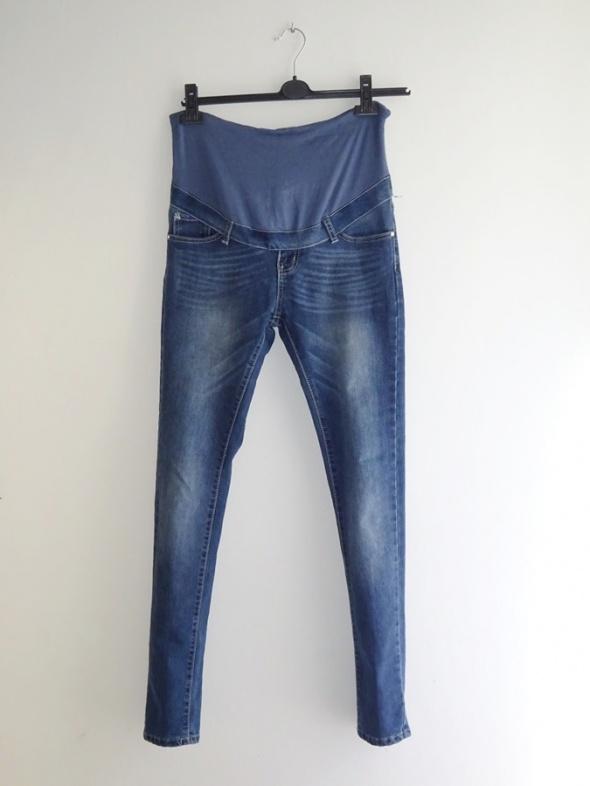 spodnie ciążowe jeansy rurki proste 38 M