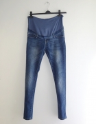 spodnie ciążowe jeansy rurki proste 38 M...