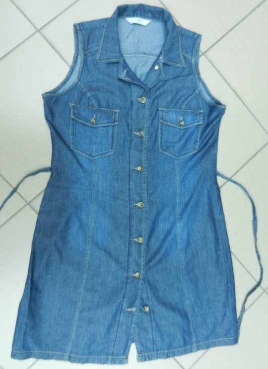 Jeansowa sukienka szmizjerka tunika F&F 40 L