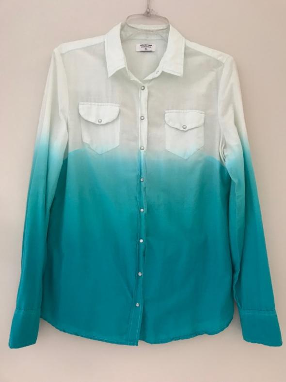 koszula ombre turkusowo biała Diverse M L...