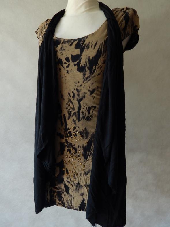 River Island NOWA sukienka z narzutką ĆWIEKI 36...