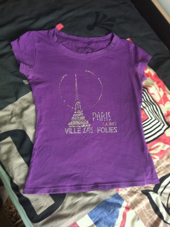 Wieża koszulka fioletowa XS S M