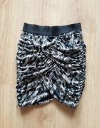 h&M Dopasowana mini spódnica animal print r34...