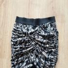 h&M Dopasowana mini spódnica animal print r34