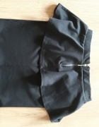 czarna mini spódnica z baskinką S M...