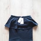 czarna mini spódnica z baskinką S M