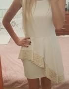 Piękna kremowo złota sukienka
