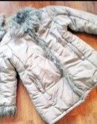 Bardzo ciepły płaszczyk na polarze 134 cm pół ceny...