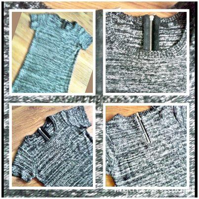 Ciepła sukienka tunika F&F ZIP rozm unwersalny