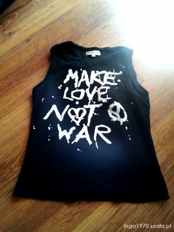 TERRANOVA Black and White koszulka z napisami S