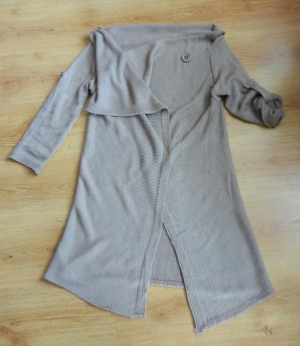 Sweter narzutka kardigan beżowy 40 42 44 L XL
