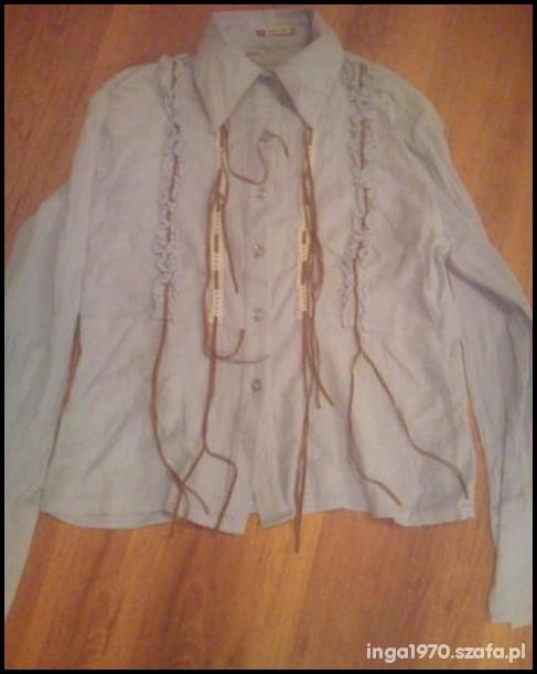 Błękitna gnieciona koszula Tanio M...