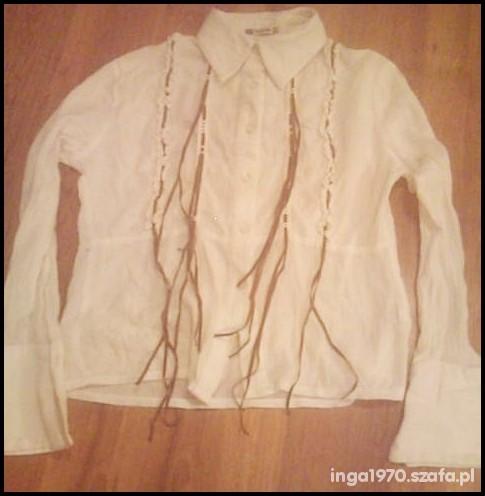 Biała gnieciona koszula Tanio M...