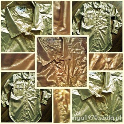 Złota długa koszula STIFF 38 Stan idealny...
