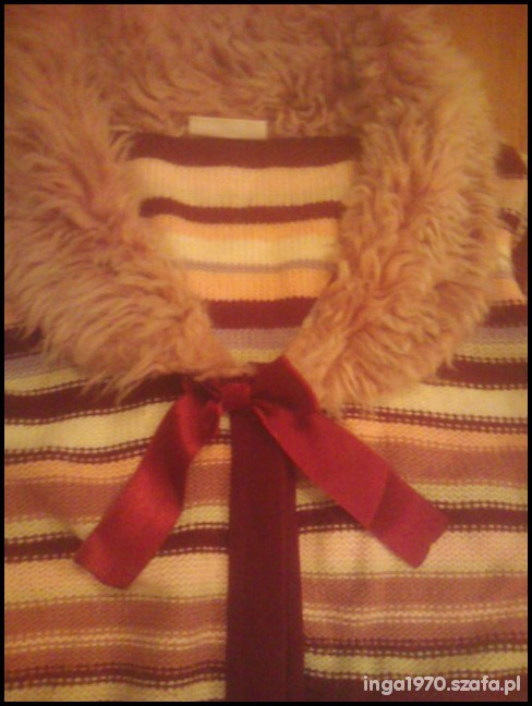 Śliczny swetrowy płaszcz 152 GEORGE Tanio...