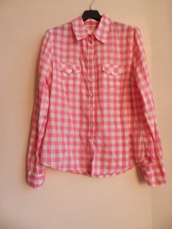Różowa koszula w kratkę 36 HM w Koszule Szafa.pl