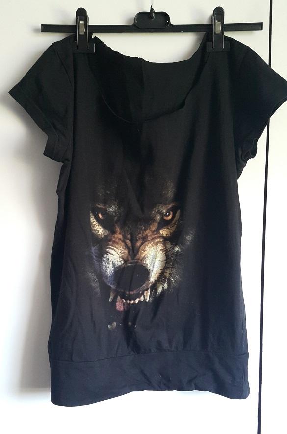 bluzeczka z wilkiem S M