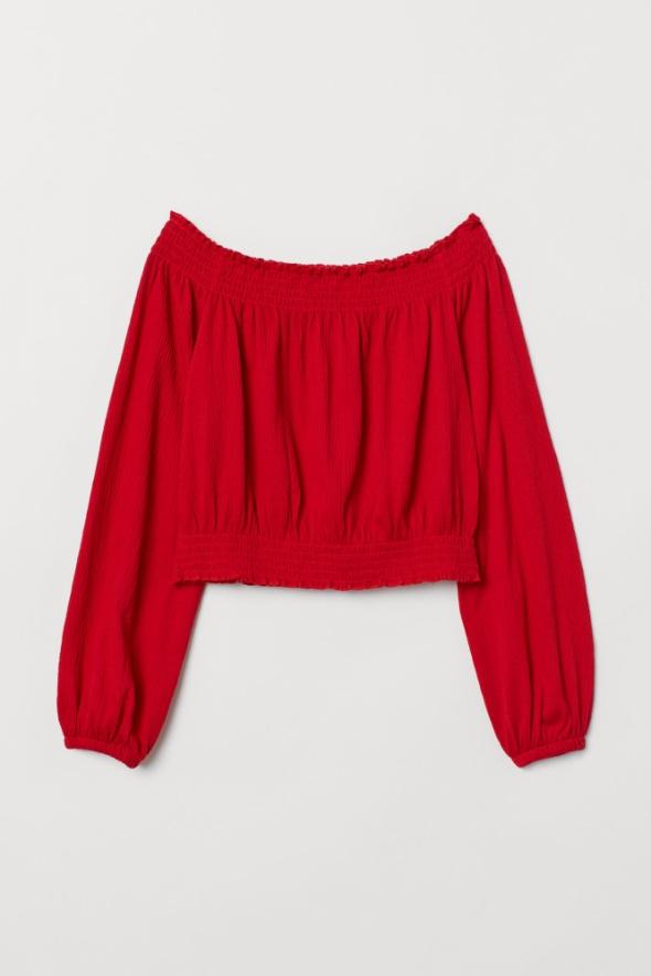 Bluzka H&M z odkrytymi ramionami