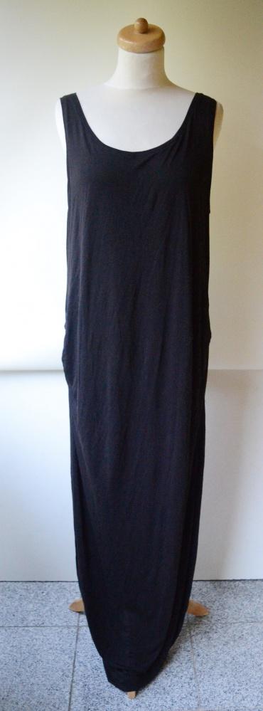 Sukienka Czarna H&M Mama XL 42 Ciążowa Długa Maxi