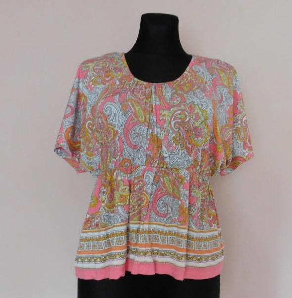 H&M bluzka wzory kolorowa 38