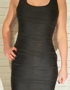 Sukienka czarna szerokie ramiączka Atmosphere...