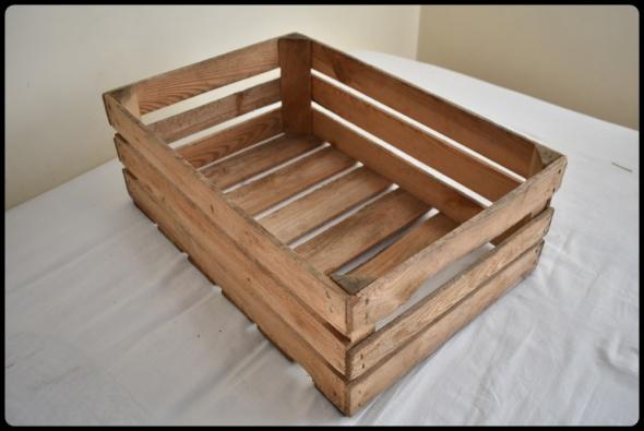 Skrzynka drewniana 40 cm x 60 cm x 22 cm np na zabawki czy warzywa